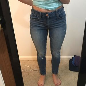 AE High Rise Jegging size 4 short